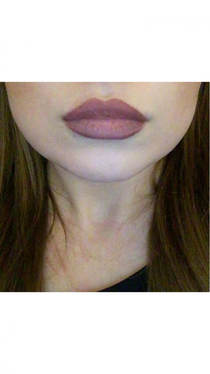 Selfie tevreden klant lippen